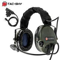 ווקי טוקי TAC-SKY-טוקי ווקי טוקי U94 PTT + TEA היי-איום Tier 1 מחממי אוזניים מסיליקון הירי ההגנה הצבאית שמיעה טאקט KENWOOD U94 PTT (1)