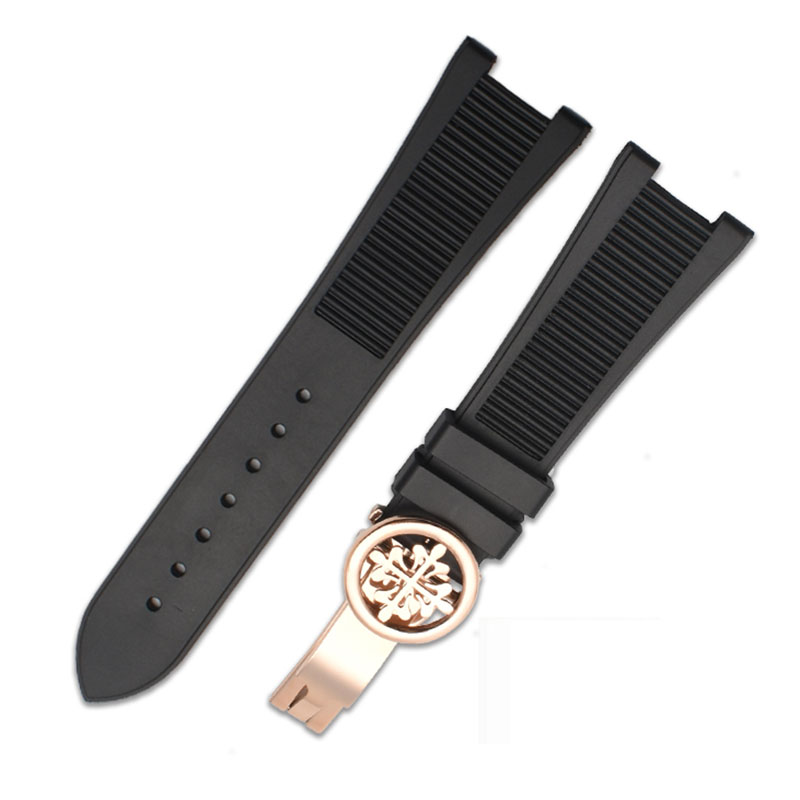 25-12mm  Waterproof Silicone  Watch Strap For PP 5711 / 5712G Nautilus Wristband Dedicated Notch Bracelet  Rubber Watchbannd