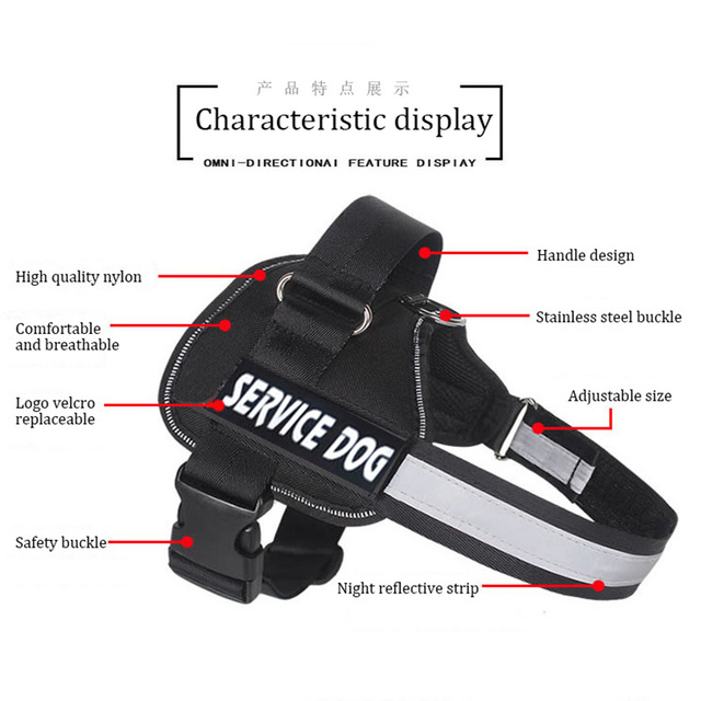 Adjustable Nylon Dog Harness Reflective Dog Collar Personalized Dog Harness and Leash Set Small Medium Large Dog Harness Vest 3