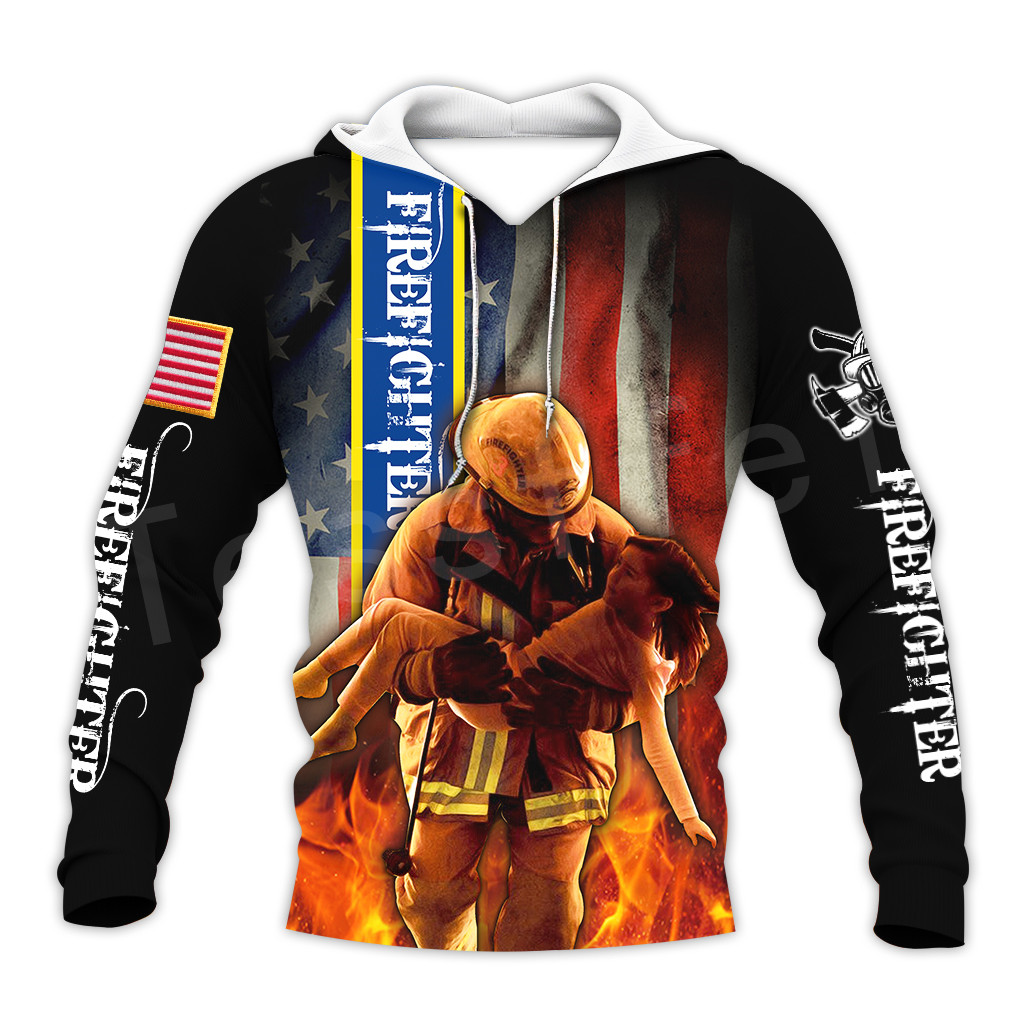 Tessffel Firefighters Suit Firemen Hero Harajuku Pullover NewFashion 3DfullPrint Zipper/Hoodies/Sweatshirt/Jacket/Men/Women S-4