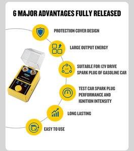 Image 4 - מקורי AUTOOL רכב מצת בודק הצתה בודקי 220V 110V רכב אבחון כלי 2 ~ 5 חור ניצוץ plug Analyzer