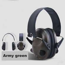 Electronic Intelligent Soundproof Earmuffs Sound Pickup Foldable Anti-Noise Headset Outdoor Hunting Sports Protection Headphone