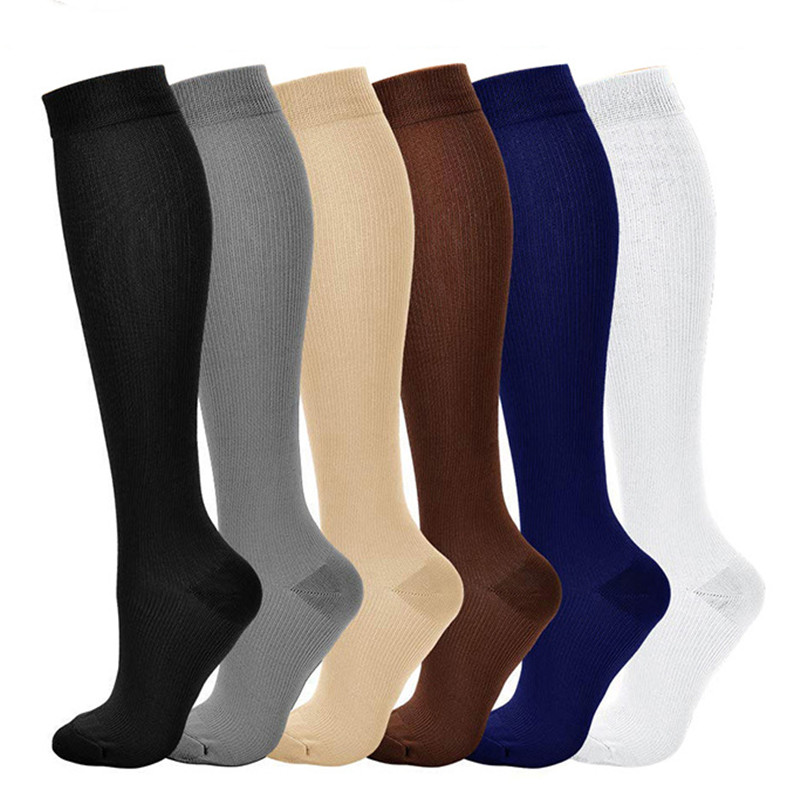 Clearance Nursing Compression Socks Pressure Men And Women Varicose Veins Relieve Pain Knee High Leg Support Stockings Nylon