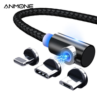 ANMONE Magnet Micro Cavo USB 360 USB di Tipo C Cavo Magnetica per Samsung a50 a70 di carica Rapida Caricatore Del Telefono 2m di Cavo per il iPhone