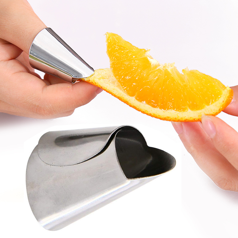 Stainless Steel Peanut Sheller Fruits Iron Nail Sleeve Vegetables Soybean Kitchen Tool Finger Protector Peeling Helper