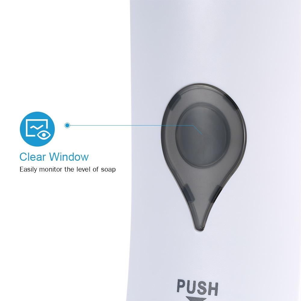 H4ed911d2a6674f2387641b7eb422188fT 300ml Liquid Soap Dispenser Kitchen Soap Dispenser Pump Wall Mounted Bathroom Shower Liquid Sanitizer Hand Touch Soap Dispenser