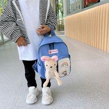 2021 New School Elementary School Kindergarten School Bag Backpack Oxford Waterproof Ladies Youth Fashion School Bag