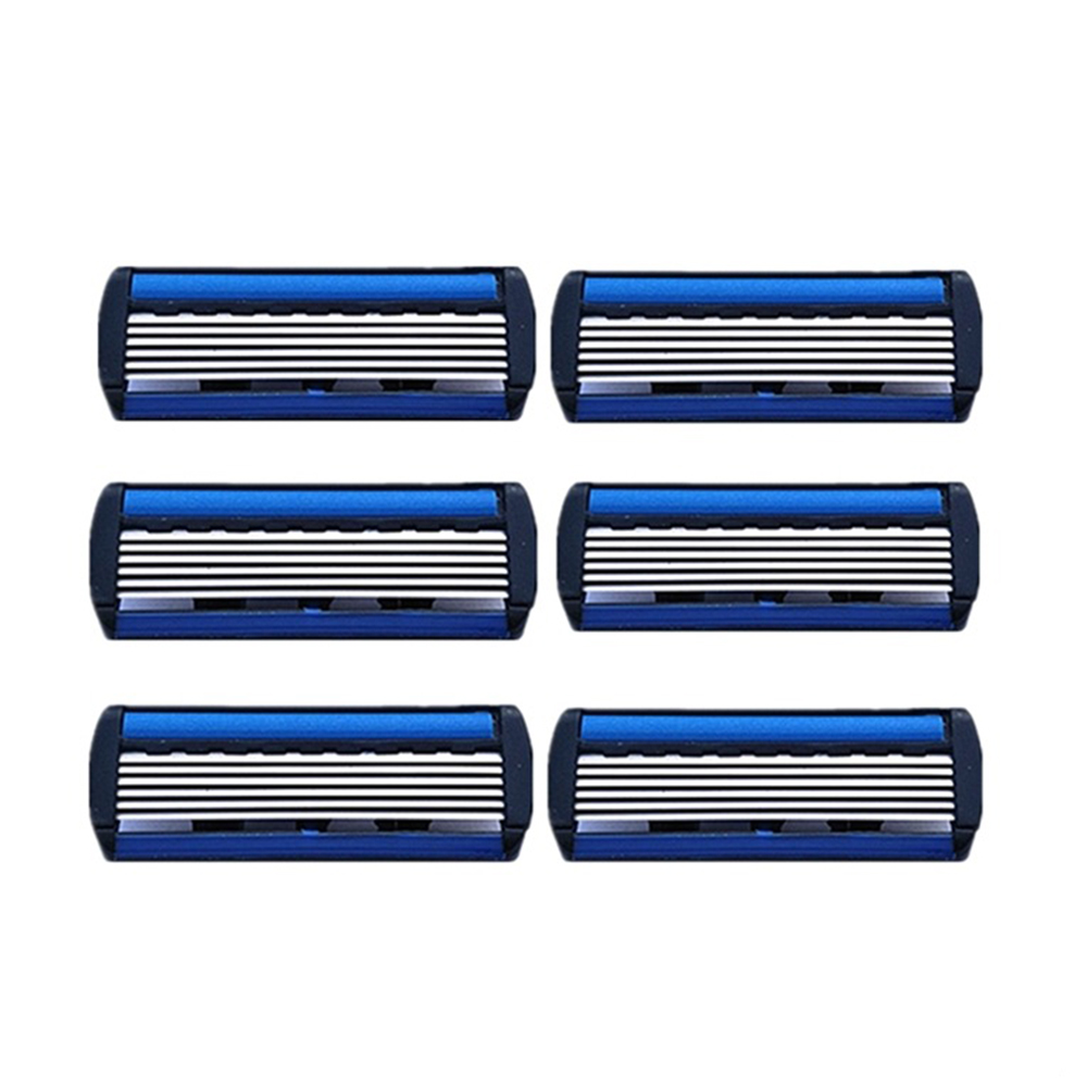 New Arrival 6pcs Men Safety Classic Manual Six-Layer Razor Blade Manual Razor Blade Six-Layer