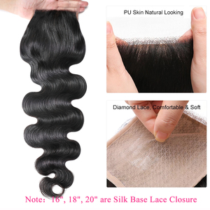 Image 2 - Brazilian Body Wave Human Hair with Closure Remy Hair 4*4 Swiss Lace Closure with Hair Weave Ali Julia 3 Bundles with Closure
