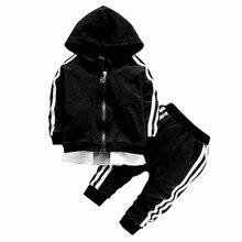 Spring Baby Casual Tracksuit Children Boy Girl Cotton Zipper Jacket Pants 2Pcs/Sets Kids Leisure Sport Suit Infant Clothing