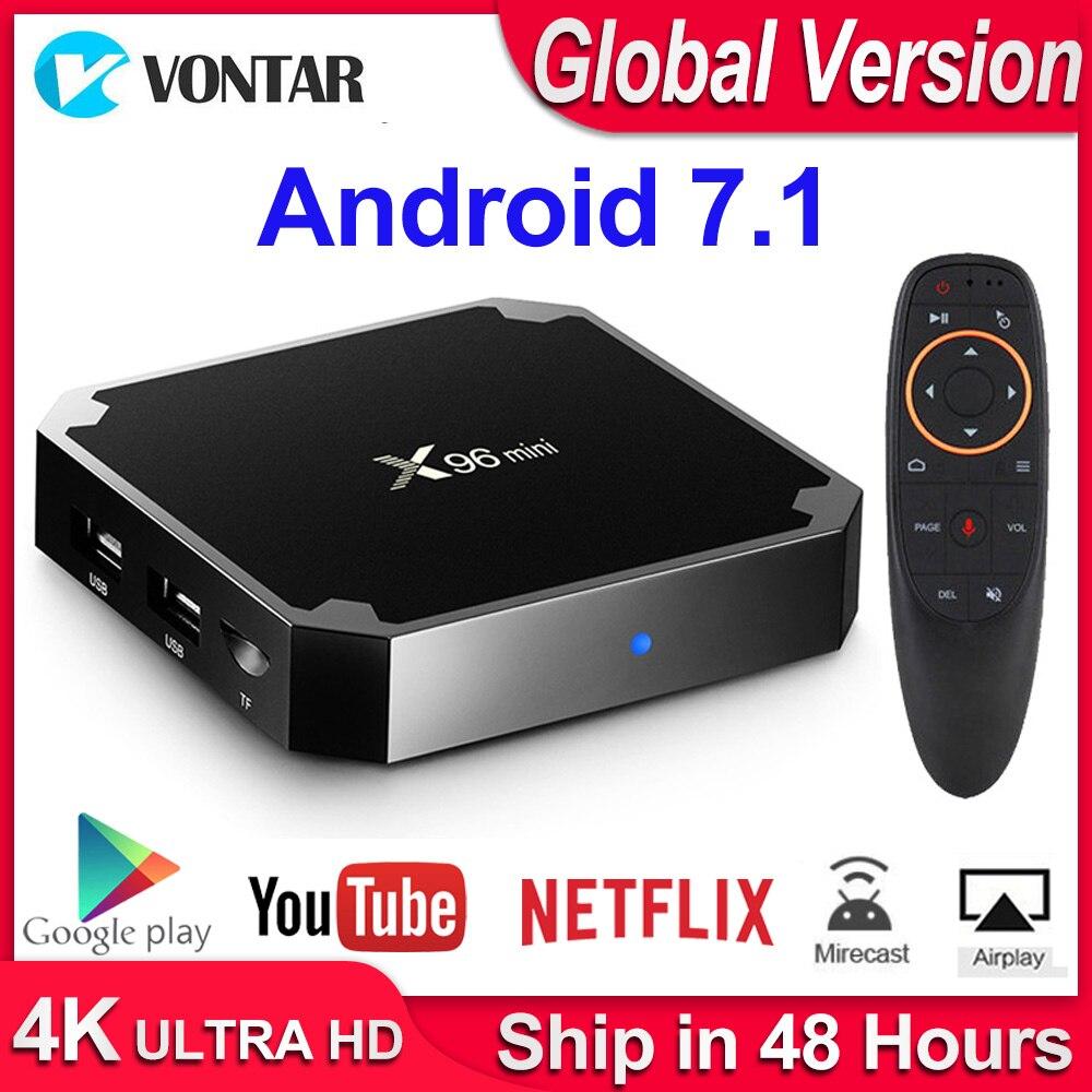 X96mini X96 Mini Android 7.1 Smart TV BOX X 96 2GB/16GB 1GB/8GB Amlogic S905W Quad Core Support 4K 30tps 2.4GHz WiFi Set Top Box