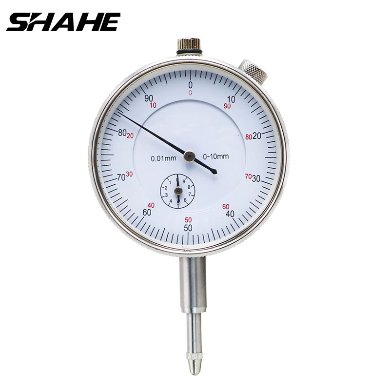 Shahe 0-10/0-25 mm 0.01 mm Metric Dial Indicator with back lug dial indicator gauge Precision Tool 0.01mm Stable Performance