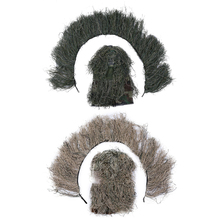 Straw-Hat Ghillie-Suits Hunting-Grass Sniper Stretchable Cloth Mesh Camouflage Wrap-Rope