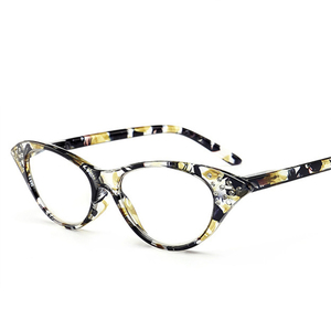 Fashion Vintage Cat Eye Reading Glasses Women Crystal Eyeglasses Frame Diopter Ladies Presbyopic Glasses +1.0 1.5 2 2.5 3 3.5 4