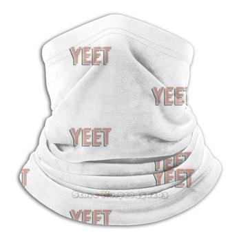 Y E E T 3D Bandana Face Neck Warmer Soft Fleece Mask Sport Scarf Yeet Yeeet Yeeted Oof Text Rainbow Rainbow Text Straight Up image