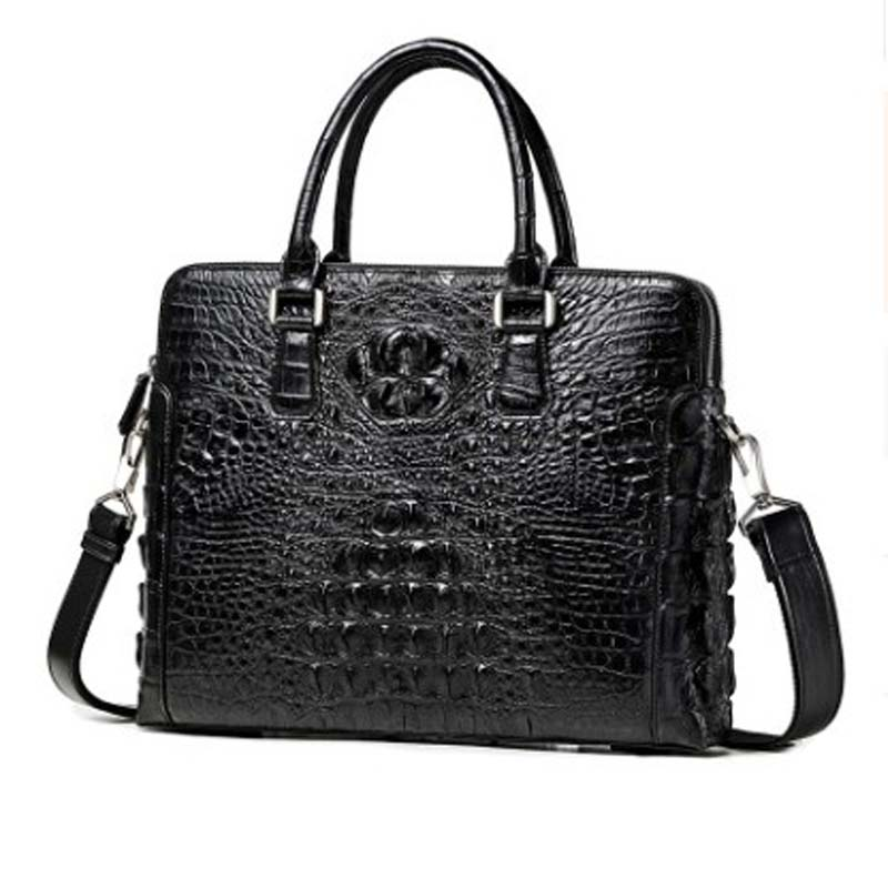 LINSHE real thing  crocodile  handbag  The new  business  leisure  The large capacity  A briefcase  Cross section  Leather bag