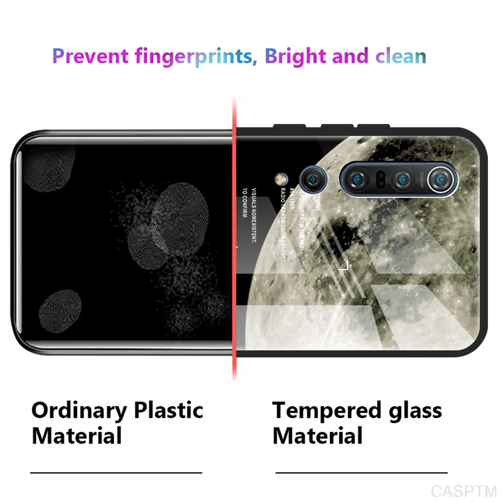 Tempered Glass Case For Xiaomi Poco X3 Star Glass Phone Case For Xiaomi Poco X3 NFC Shockproof Star Space Gradient Cover Cases