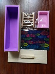A- Diplopore Toast Soap Mold Combo (Wooden Box + Large Size Toast + zao jia + BRICS Soap Mold + Oil-Paper)