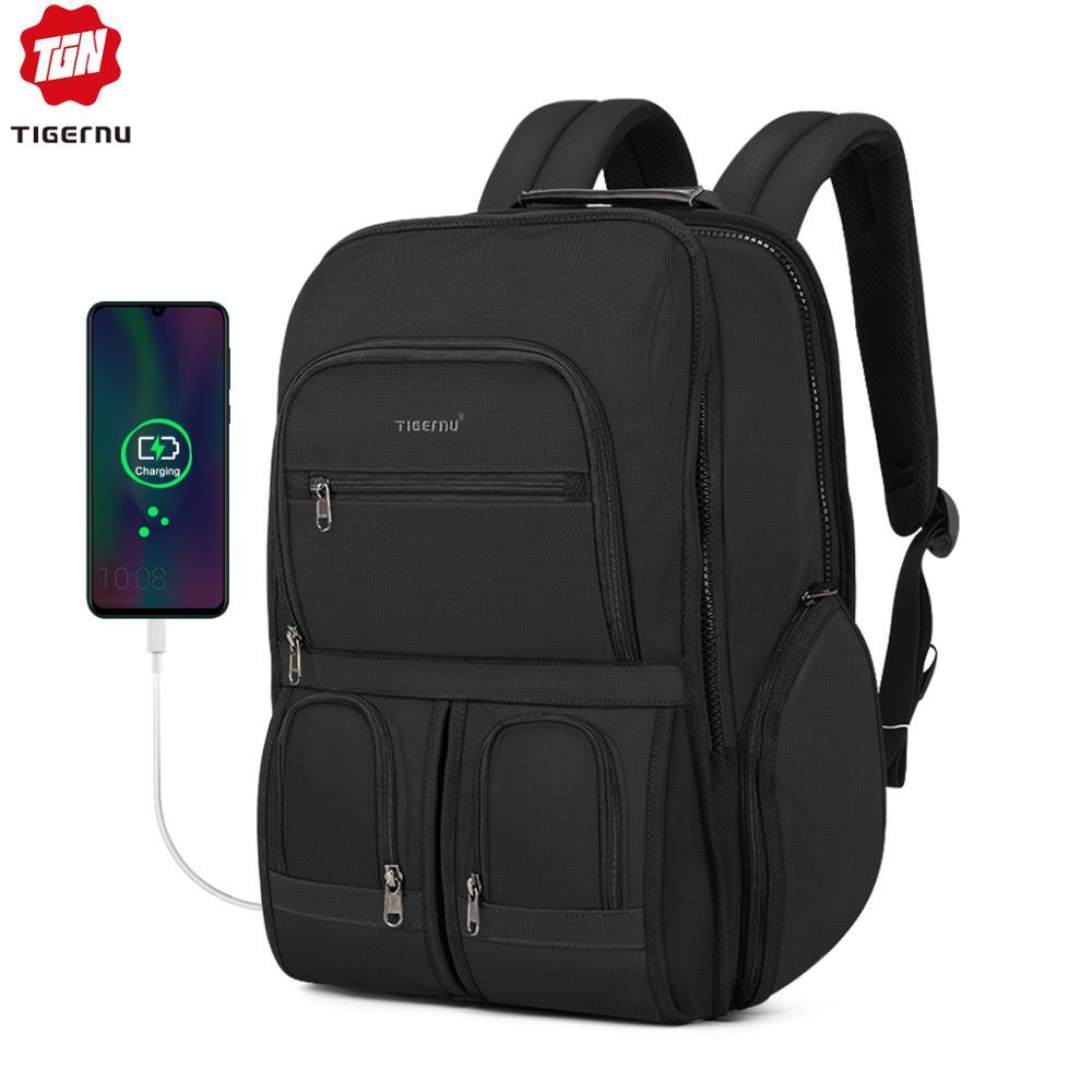 Tigernu RFID Anti Thief Backpack Large Capacity For Travel Laptop Bags Water Resistant Men Rucksack Mochila Male Knapsack New