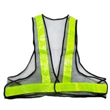 Светоотражающие безопасности видимость жилет передач полосой жилет куртки-черный