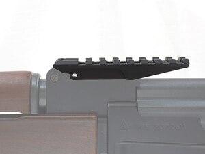 WIPSON AK dikiz ray dağı 100mm Picatinny Weaver 20mm kapsam sabitleme kaidesi avcılık kırmızı için Dot optik AK47 AK74 adaptörü