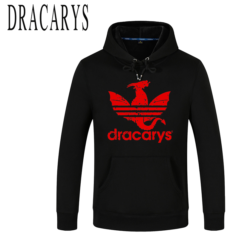 DRACARYS Women New Winter Streetwear Sport Game Of Throne Unisex Adults Man Hoodies Top Cotton Fleece Sweatshirt Sudadera Hombre