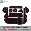 Anti-Vuil Pad Voor Toyota RAV4 Xa40 2013 2014 2015 Pre-Facelift Rav 4 40 Hybrid Deur Groef poort Slot Coaster Anti-Slip Mat