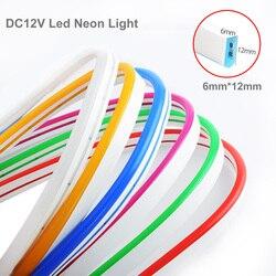 Светодиодная лента 12 в постоянного тока, гибкая светодиодная лента, водонепроницаемый светодиодный неосветильник светильник IP67, гибкая ле...