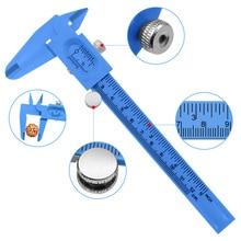 0 120mm Protable vernier caliper diameter micrometer vernier caliper student DIY model making mini tool ruler measure plastic