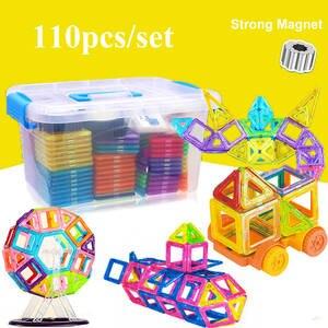 Building-Blocks Model Educational-Toys Magnetic Children 110pcs for Gifts