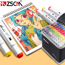 Colored Alcohol Markers Sketch Marker Dual Head Felt-Tip Brush Drawing Marker Pens Manga Art Markers Art Supplies for Beginner marvy brush fluorescence fabric markers alcohol fluorescent highlighters japan original cloths soft marker ultra fine line pens