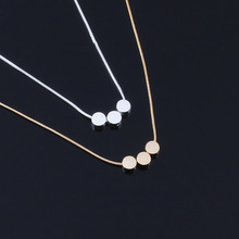 Dainty Geometric Choker Necklaces Round Dot Choker Snake Chain Chokers Necklaces for Women Girls round geometric cut out arm chain