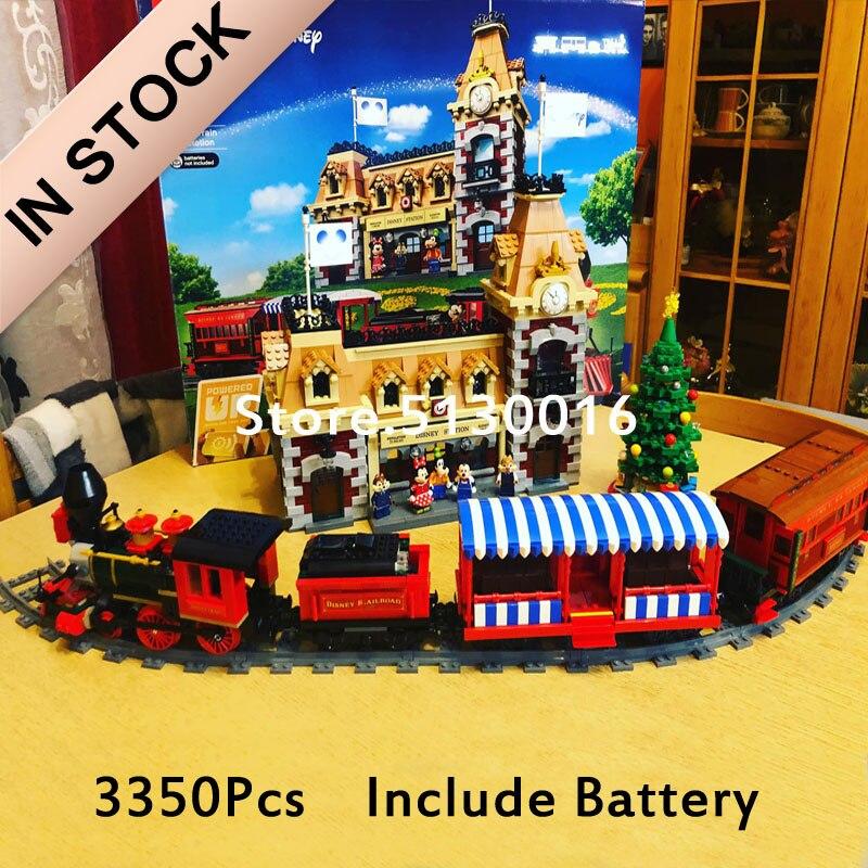 In Stock 71044 Train And Station J11001 Street View Princess Castle Creator Model Building Blocks 16008 21318 21319 71040 Brick