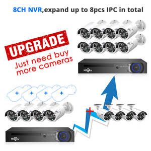 Image 3 - Hiseeu H.265 8CH 5MP POE Security Camera System Kit AI Face Detection Audio Record IP Camera IR CCTV Video Surveillance NVR Set