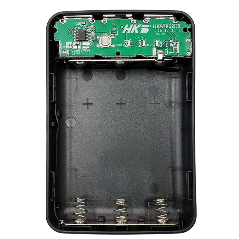 5V 1A 7X18650 DIY Power Bank Case 3USB Battery Shell Box Case DIY KIT Digital LCD Display Shell Battery Charger Box Case