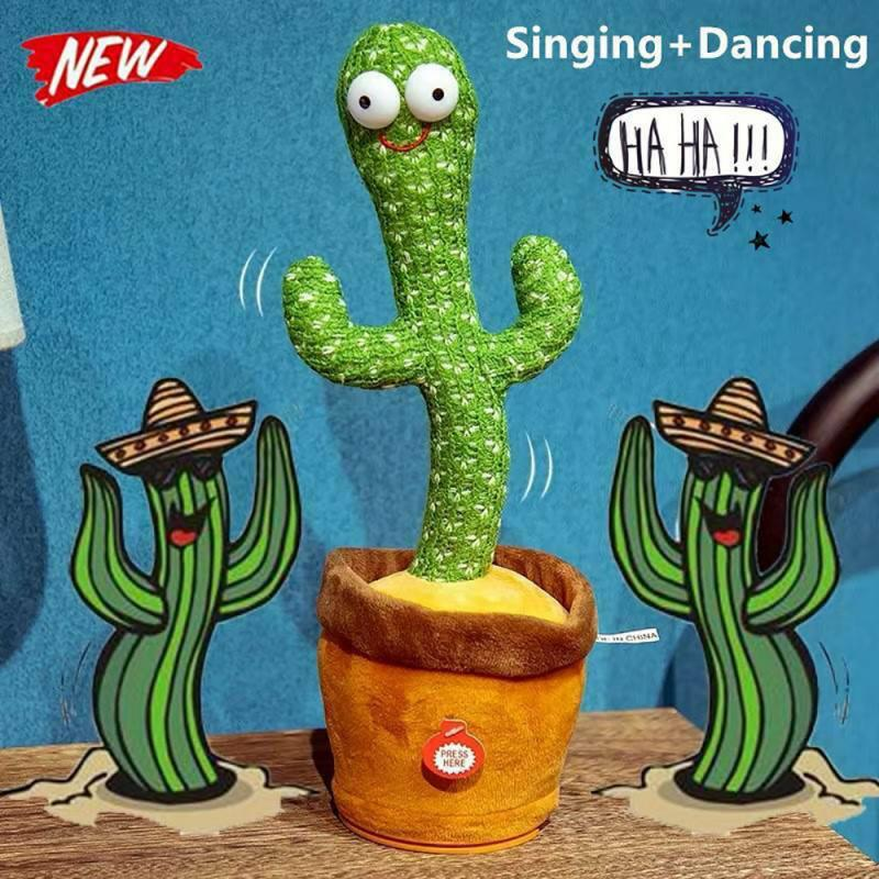 Cactus Plush Toy Electronic Shake Dancing Toy With The Song Plush Cute Dancing Cactus Early Childhood Education Toy For Children