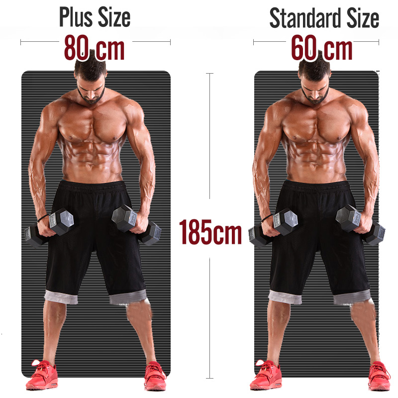 Men Gym Mats Large Size NBR Non-slip Yoga Mats For Fitness Mat 15MM Sport Pad With Bandages Big Size Tapete 1