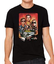 Once Upon a Time in HOLLYWOOD T shirt Men Sizes XS - 5XL 100% Cotton Tee Movie Gift Print Comedy Dicaprio Brad Pitt Tarantino