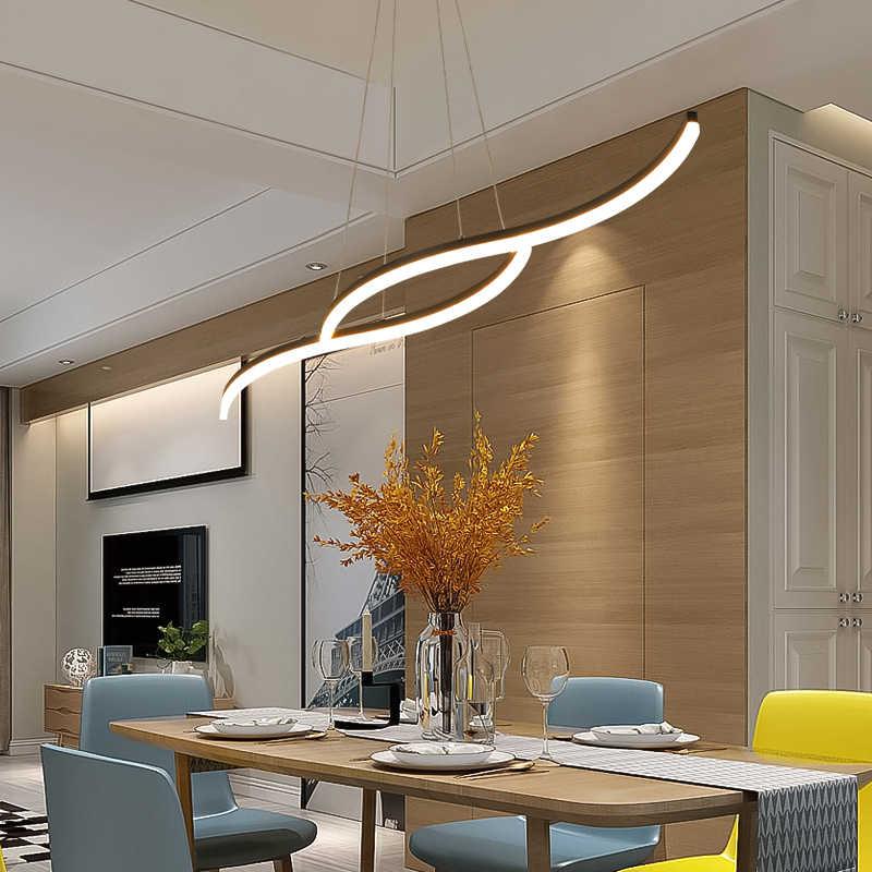 Подвесной светильник, минималистичный современный светодиодный подвесной светильник для столовой, бара, кухни, офиса, подвесной светильник с дистанционным управлением