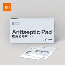 100PCS Xiaomi חיטוי חיטוי רפידות מגבונים אלכוהול Prep החלפה רטוב לנגב עבור עור ניקוי טיפול תכשיטי טלפון מסך נקי