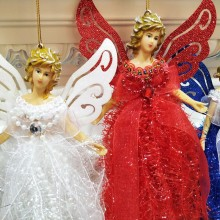 купить Christmas Angel Doll Decoration Rope Christmas Tree Pendant Ornament Decorative Home Door Hanging Decoration по цене 138.08 рублей