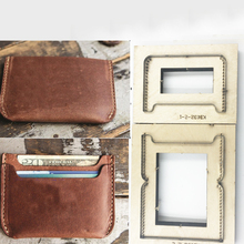 Japan Stalen Blad Diy Leather Craft Kaarthouder Samll Portemonnee Houten Stansen Mes Schimmel Set Hand Punch Template Tool set