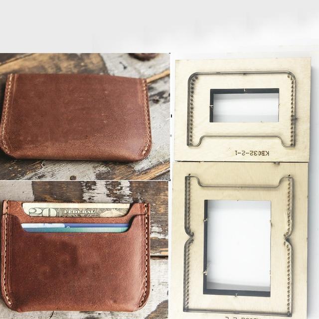 Japan Steel Blade DIY Leather Craft Card Holder Samll Wallet Wooden Die Cutting Knife Mould Set Hand Punch Template Tool Set