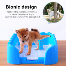 Pet Training Toilet Portable Dog Cat Potty Tray Pet Training Litter Box With Fence Indoor Outdoor Use Pet Supplies