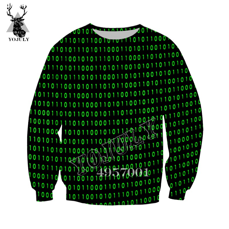 YOJULY 3D Print Harajuku I'm A Hacker Programming Code Gamer Sweatshirt Hoodie Unisex Casual Pullover Clothing Tracksuit Y386