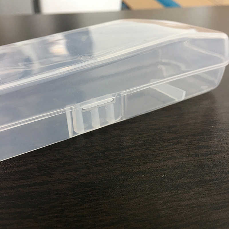 Erkekler için evrensel tıraş saklama kutusu kolu kutusu tam şeffaf plastik kasa jilet kutuları çevre dostu PP tıraş kutusu yüksek kalite