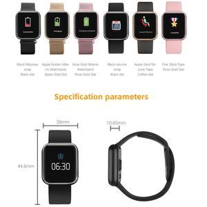 Image 5 - Greentiger P80 Astuto Della Vigilanza Donne IP68 Impermeabile Monitor di Frequenza Cardiaca Fitness Tracker di Pressione Sanguigna Smartwatch VS B57 P68 S226