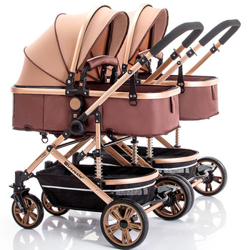 Detachable Twin Baby Stroller Can Sit Reclining Shock Folding Cart High Landscape Stroller Four Wheel Baby Stroller Baby Basket 5 5kg high landscape baby stroller lightweight baby strollers foldable portable four wheel stroller baby carrier pushchair cart