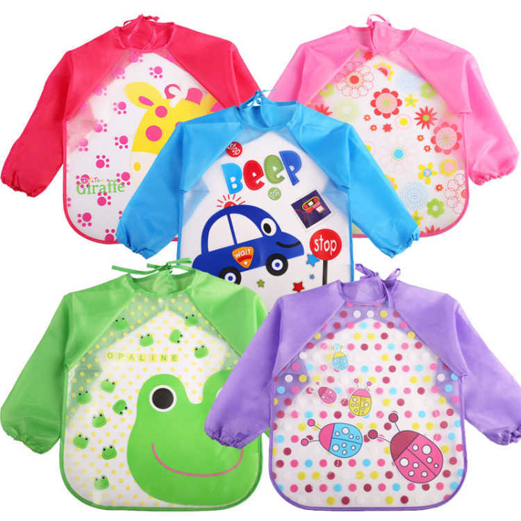 Apron Overclothes Long Sleeve Bib Children Waterproof Baby Eating Clothes Painting Protective Clothing Spring And Autumn Summer