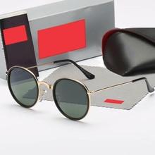 Vintage Round women Sunglasses 2020 Brand Designers Metal Frame Black Sun Glasse